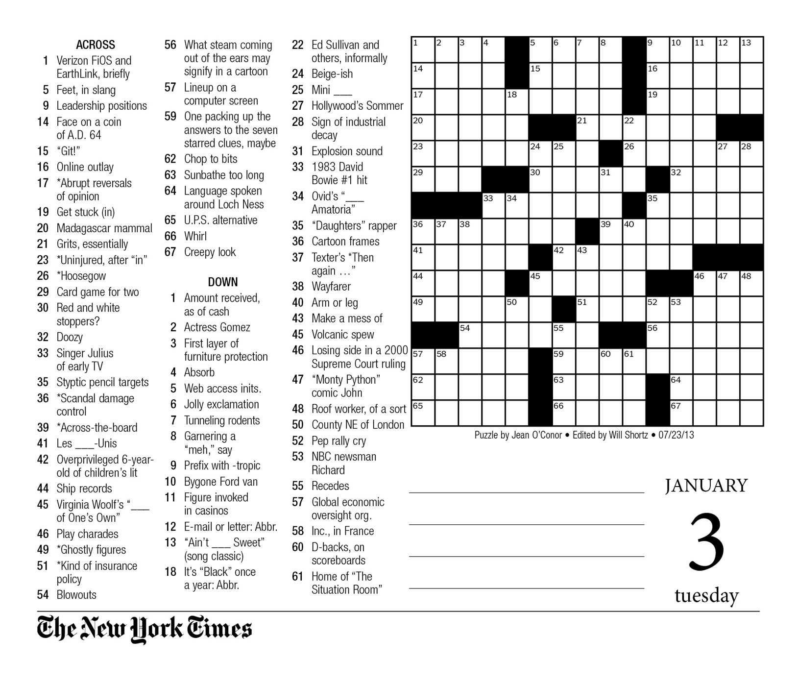 Crosswords Sunday Crossword Puzzle Printable ~ Themarketonholly - New York Times Crossword Puzzle Printable