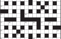 Cryptic Crosswords – Games World Of Puzzles – Printable Cryptic Crossword