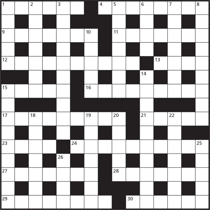 Printable Cryptic Crossword