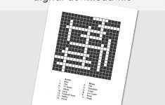 Custom Crossword Puzzle Printable Blank Crossword Digital | Etsy   Blank Crossword Puzzle Printable