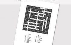 Custom Crossword Puzzle Printable Blank Crossword Digital | Etsy   Printable Canadian Crossword