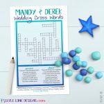 Custom Wedding Crossword Puzzle Game Printable #219 | Member Board   Free Printable Bridal Shower Crossword Puzzle