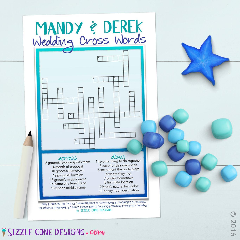 Custom Wedding Crossword Puzzle Game Printable #219   Member Board - Free Printable Bridal Shower Crossword Puzzle