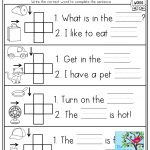 Cvc Crossword Puzzles For Beginning Readers And Simple Sentences   Printable Crossword Puzzle For Kindergarten