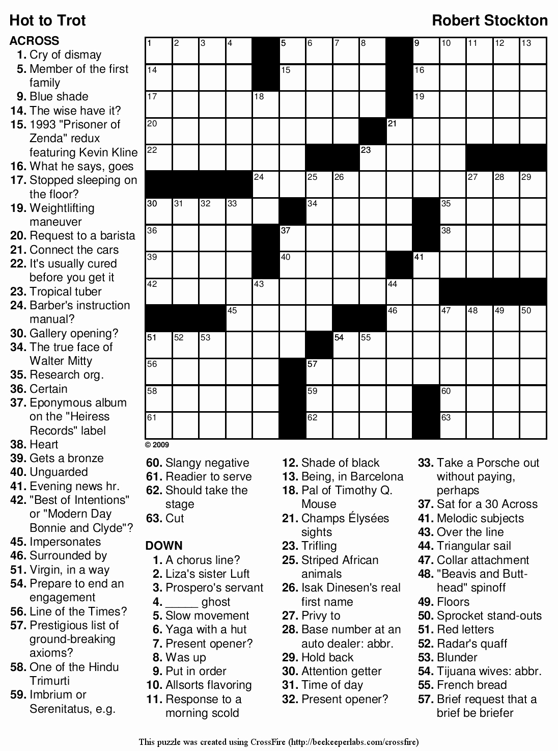 Daily Crossword Puzzle Printable – Rtrs.online - Printable Crossword Puzzle Difficult