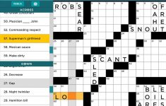 Daily Crossword Puzzle To Solve From Aarp Games   Daily Crossword Printable Version