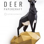 Deer #papercraft #paper #craft #diy #sculpture #decor #homedecor   Printable Origami Puzzle