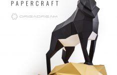 Deer #papercraft #paper #craft #diy #sculpture #decor #homedecor   Printable Origami Puzzle