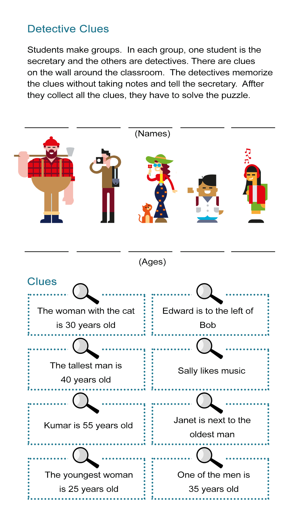 Detective Clues: Solve The Mystery In The Puzzle Worksheet - All Esl - Printable Detective Puzzles