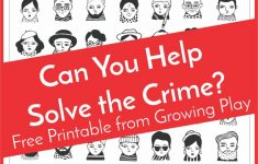 Detective Puzzle For Kids   Free Printable   Growing Play   Printable Detective Puzzles
