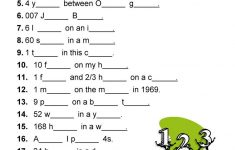 Diltoids  Number/letter Puzzles Worksheet   Free Esl Printable   Printable English Puzzle