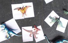 Dinosaur Matching Puzzle (Free Printable)   Printable Matching Puzzle