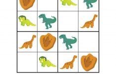 Dinosaur Sudoku Puzzles {Free Printables}   Education Ideas   Sudoku   Printable Dinosaur Puzzle