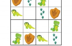 Dinosaur Sudoku Puzzles {Free Printables}   Gift Of Curiosity   Printable Dinosaur Puzzle