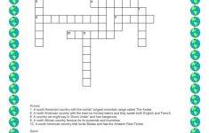 Discovering Places   Crossword Worksheet   Free Esl Printable   Printable Hockey Crossword