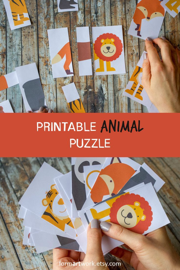 Diy Kids Animal Puzzle Printable - Children Reception Activity - Fun - Printable Animal Puzzles