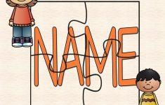 Diy Name Puzzle Template | Preschool | Name Puzzle, Preschool   Printable Name Puzzle