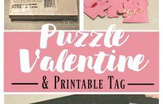 Diy Puzzle Valentine   What Treasures Await   Printable Valentine Puzzle