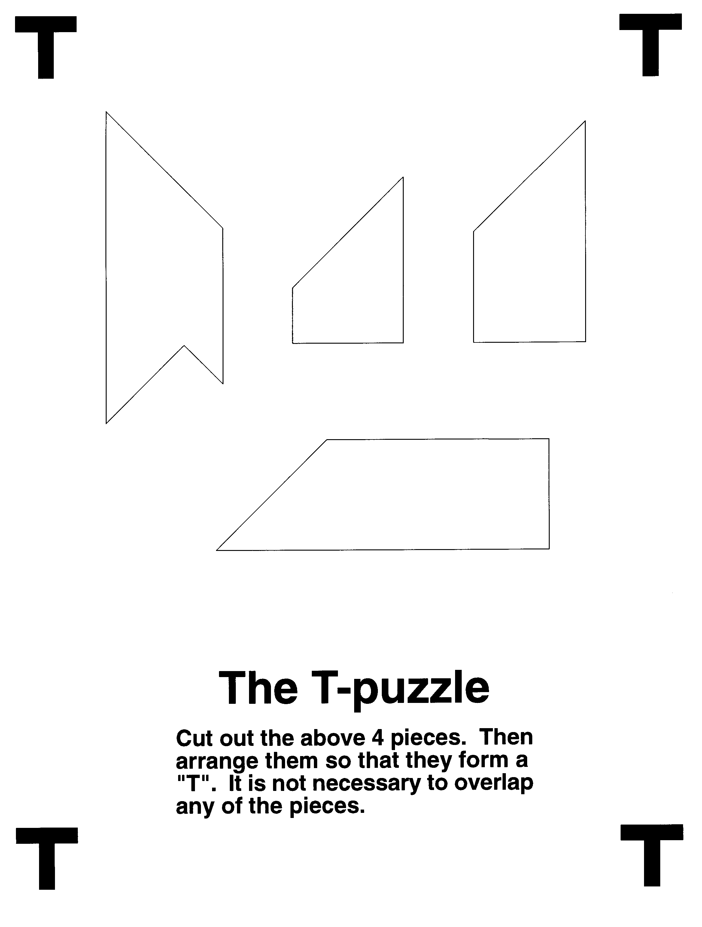 Diy Puzzles | Puzzles.ca - Letter T Puzzle Printable