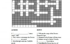 Doctor Who Crossword Puzzle | Doctor Who | Doctor Who, Dr Who   Printable Epiphany Crossword Puzzle