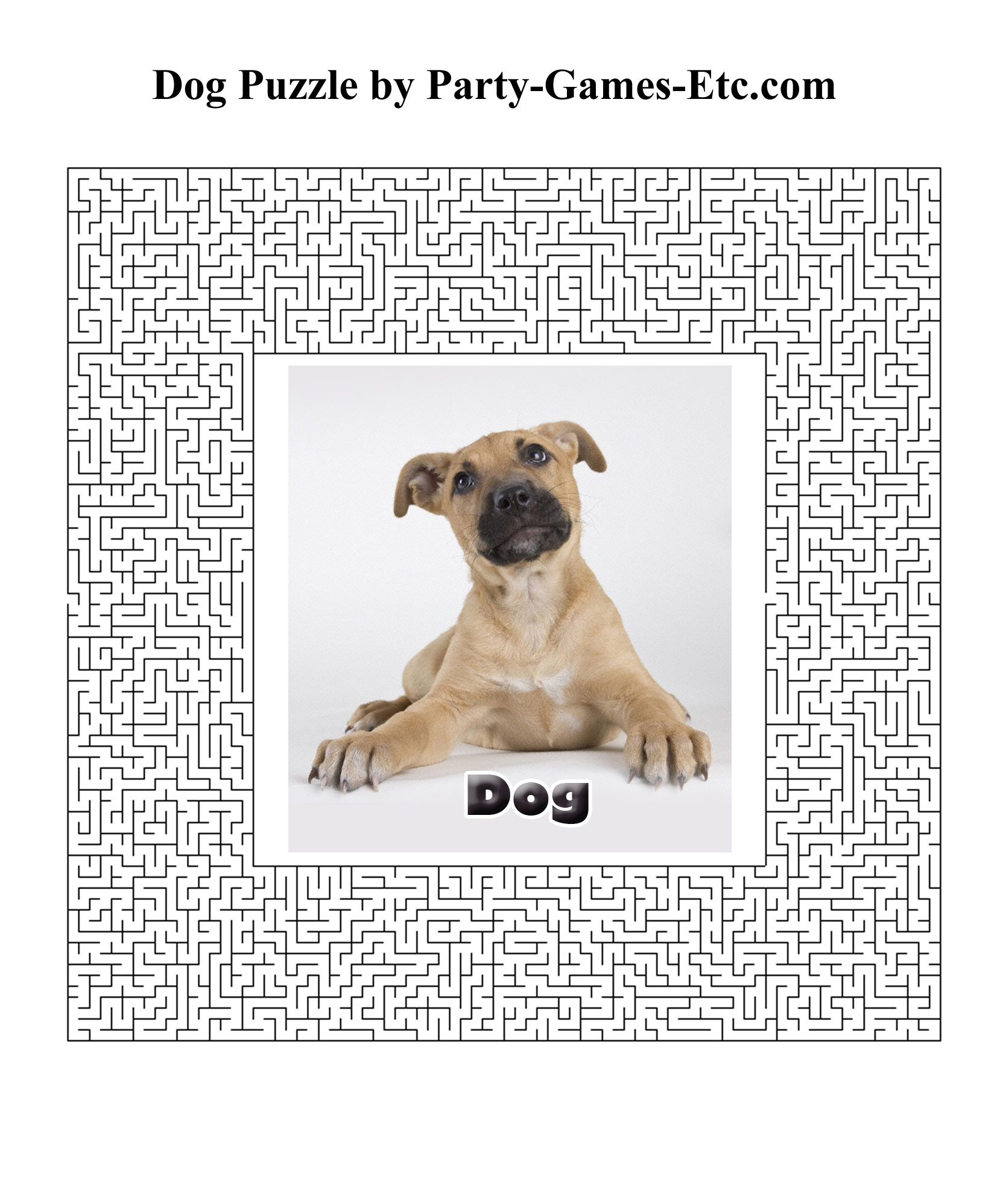 Dog Party Games, Free Printable Games And Activities For A Theme - Free Printable Dog Puzzle