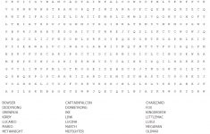 Don't Know Why, But I Made A Word Search Of All The Confirmed   Zelda Crossword Puzzle Printable
