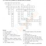 Download Grade 4 Science Pdf Worksheet (Crossword) On Animals   Printable Science Crossword Puzzles