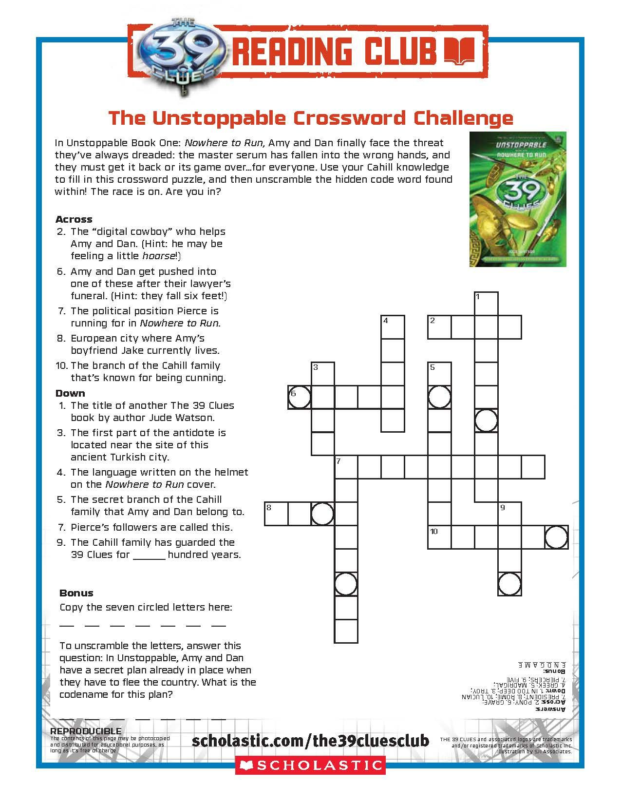 Download This Free Printable Crossword Challenge For Your The 39 - Printable Crossword Book