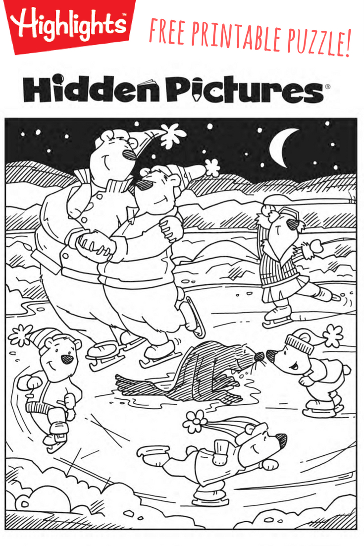 Download This Free Printable Winter Hidden Pictures Puzzle To Share - Printable Puzzles Winter
