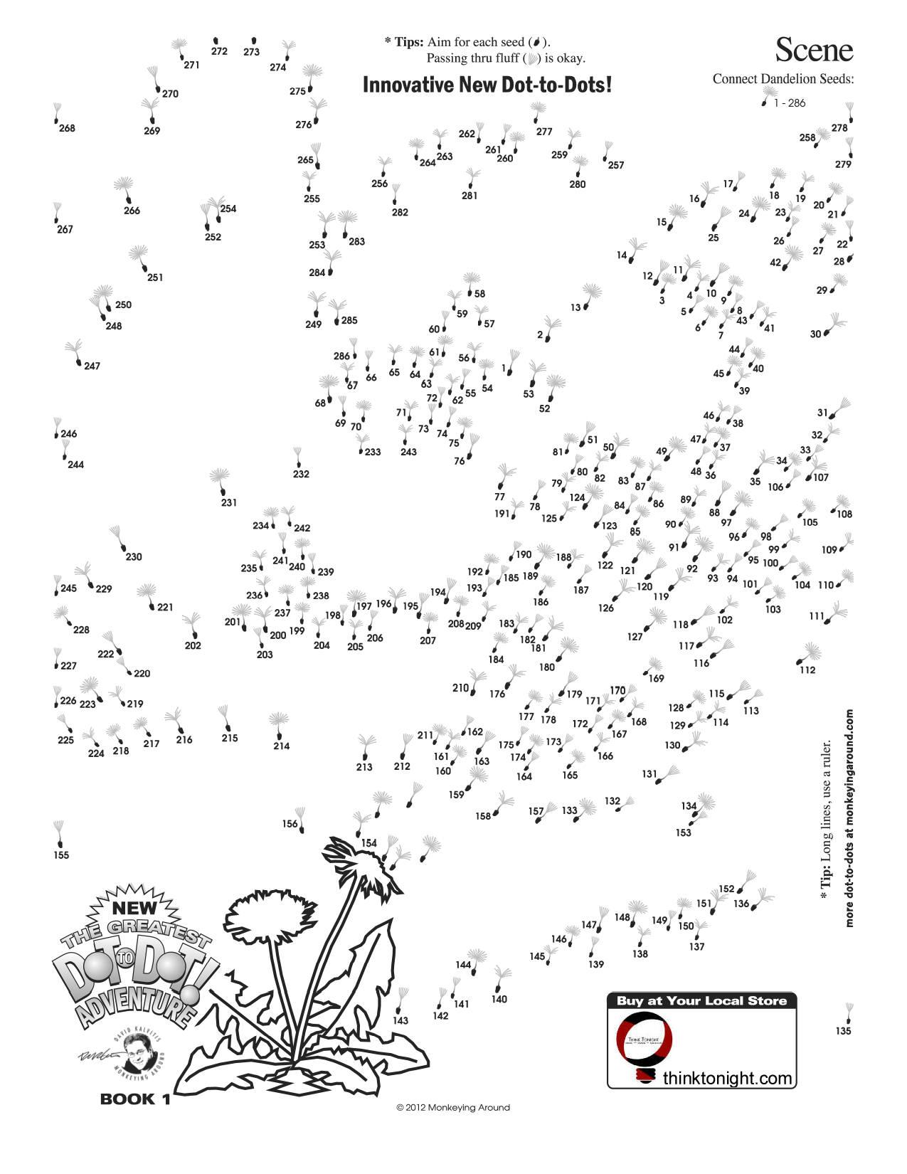 Downloadable Dot-To-Dot Puzzles - Printable Dot Puzzles