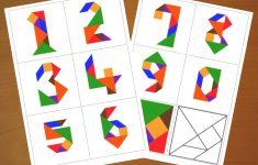 Downloadable Tangram Cards   Tangram Numbers   Tangram Puzzles   Printable Tangram Puzzle Pieces
