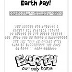 Earth Day Cryptogram Puzzle Solution | Class Decorations | Earth Day   Printable Cryptogram Puzzles With Answers