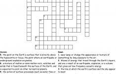Earth Science Crossword Puzzle Crossword   Wordmint   Science Crossword Puzzles Printable