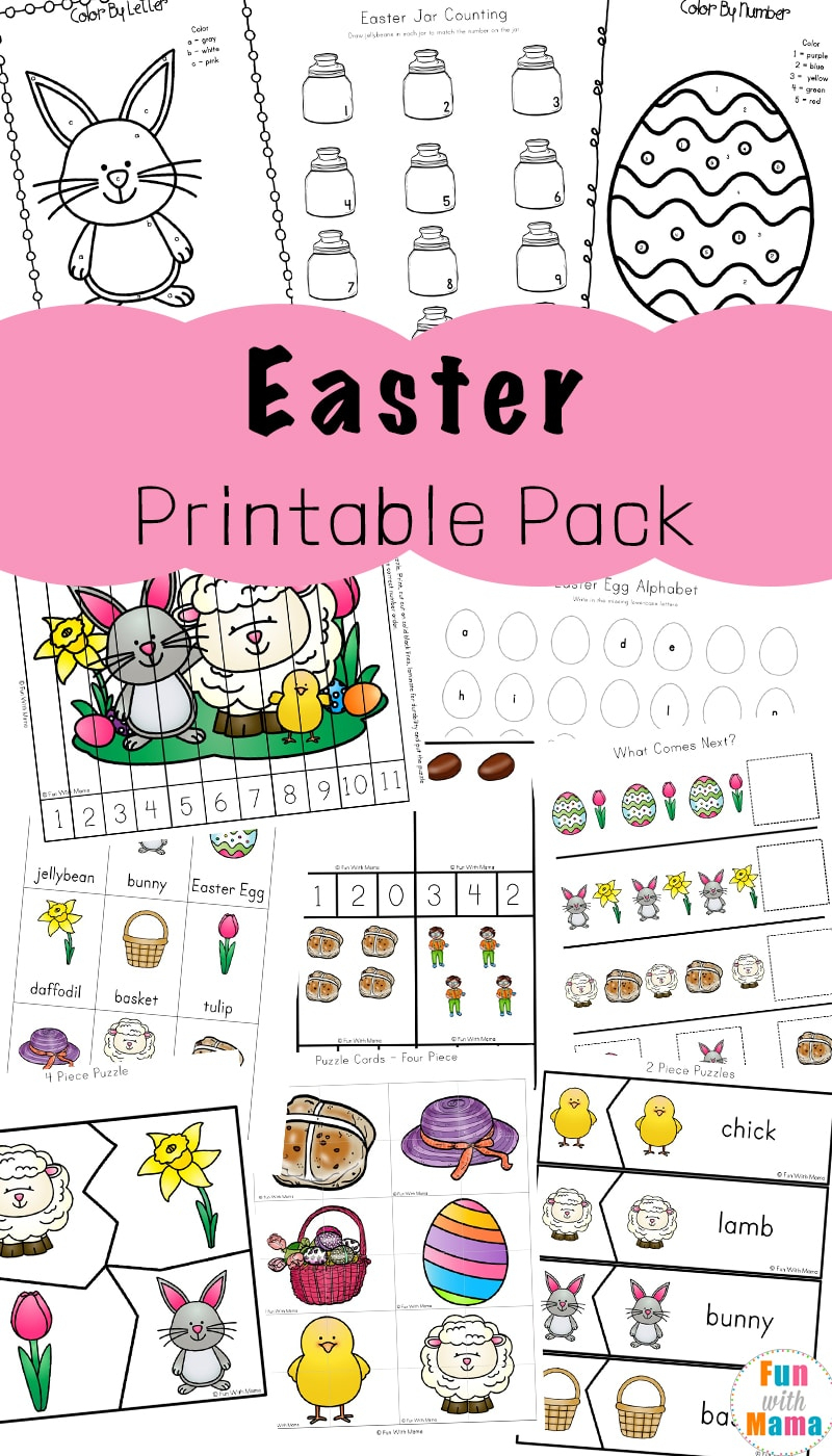 Easter Activities For Toddlers And Preschool Printables - Fun With Mama - Printable Toddler Puzzles