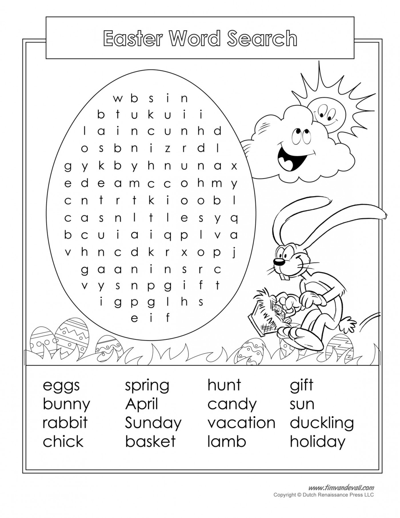 Easter Crossword Puzzle Printable Crosswords Free Word - Free - Printable Crossword Spring