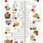 Easter Crossword Puzzle Worksheet   Free Esl Printable Worksheets   Printable Crossword Easter