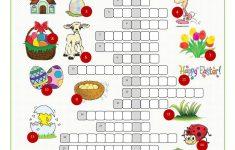 Easter Crossword Puzzle Worksheet   Free Esl Printable Worksheets   Printable Easter Puzzles