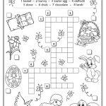 Easter Crossword | Teaching English | Easter Crossword, Easter   Easter Crossword Puzzle Printable Worksheets