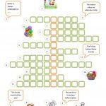 Easter Crossword Worksheet   Free Esl Printable Worksheets Made   Easter Crossword Puzzle Printable Worksheets