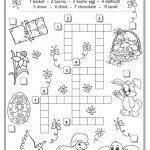 Easter Crossword Worksheet   Free Esl Printable Worksheets Made   Printable Crossword Easter