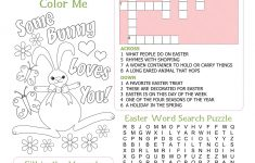 Easter Kid's Activity Sheet Free Printables Available @party   Printable Easter Puzzle
