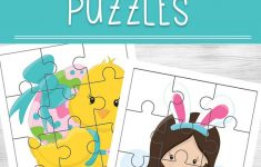 Easter Printable Puzzles   Printable Bunny Puzzle