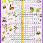 Easter:crossword Puzzle. Esl Worksheet Of The Day   Easter Crossword Puzzle Printable Worksheets