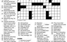 Easy Celebrity Crossword Puzzles Printable   Printable Boatload Crossword Puzzles