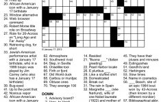 Easy Celebrity Crossword Puzzles Printable   Printable Crossword Puzzles Celebrities