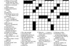 Easy Celebrity Crossword Puzzles Printable   Universal Daily Crossword Puzzle Printable