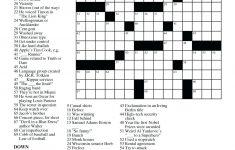 Easy Crossword Puzzle Printable – Loveisallaround.club   Printable Diy Crossword Puzzles