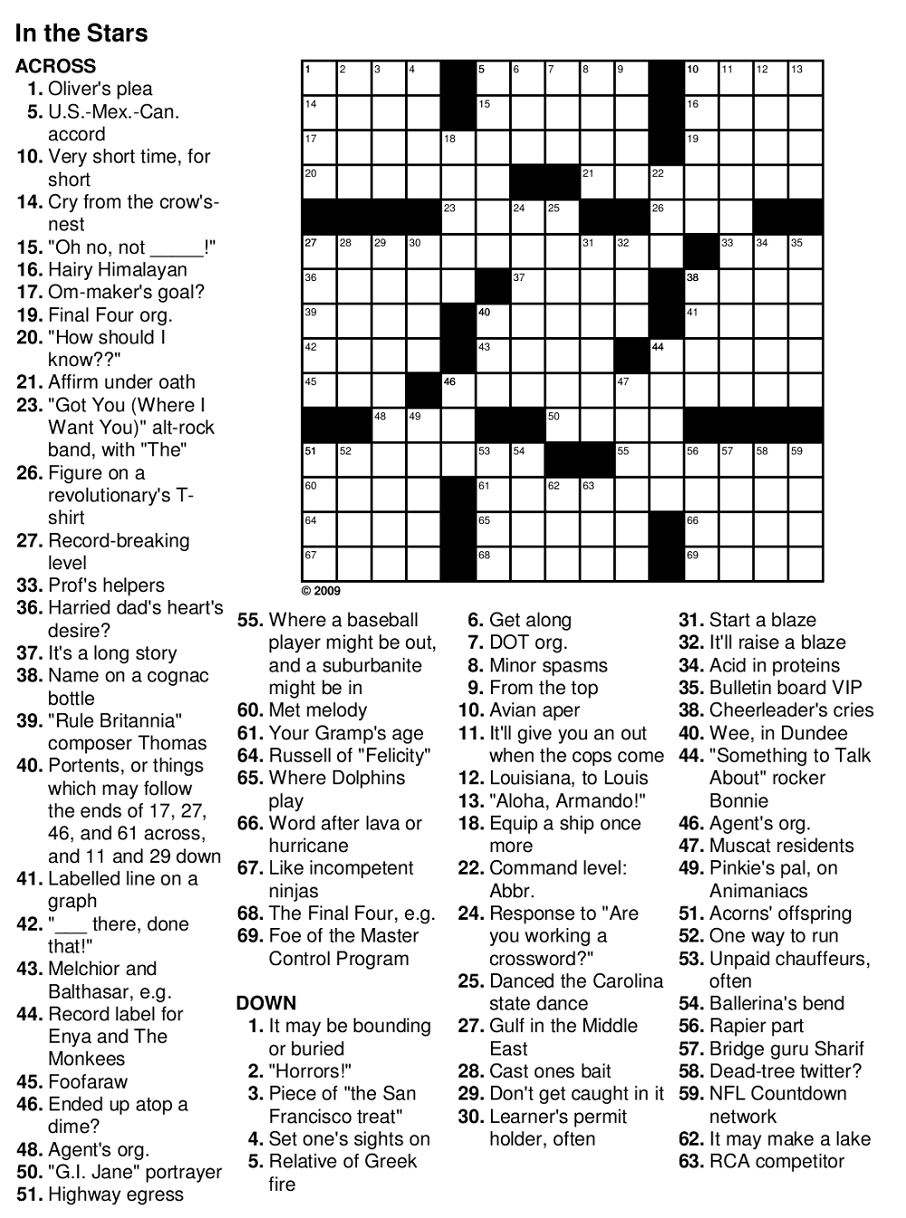 Easy Crossword Puzzles For Senior Activity | Kiddo Shelter - Printable Crossword For Seniors