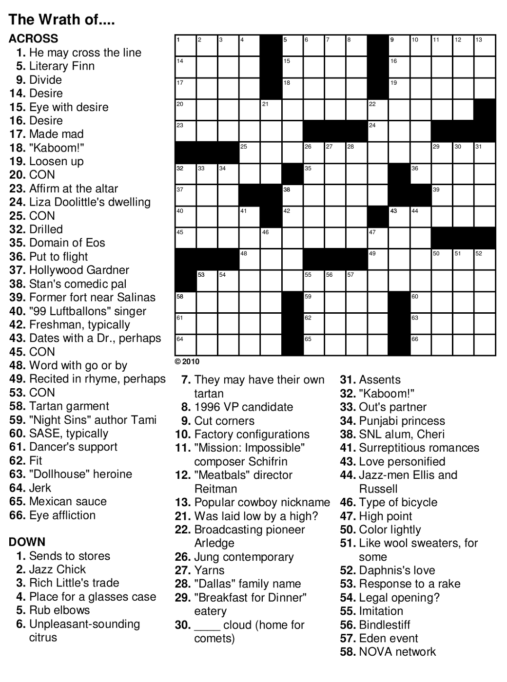 Easy Crossword Puzzles For Seniors | Activity Shelter - Printable Crossword Sheets