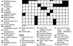 Easy Crossword Puzzles For Seniors Practice » Printable Coloring   Printable Crossword For Seniors